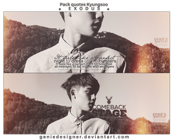 Pack Quotes Kyungsoo - EXODUS. by GenieDesigner