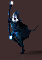 Drow Ranger Render by ZayrCroft