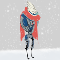 ME - Turians Don't Like The Cold by Aelwen