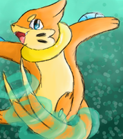 Buizel used Aqua tail by Hinami