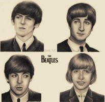 The Beatles by LittleRamona