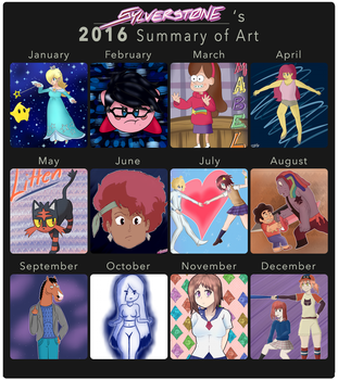Sylver's 2016 Summary of Art! by Sylverstone14