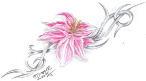 Flower Tribal C. Tattoo Design by 2Face-Tattoo