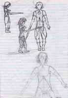 The Girl with the Sword Arm Concept Sketches by RC-Iname
