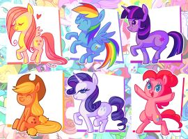 Ponies Doodles by frandemartino