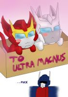 Ultra Magnus and his Kitties by PurrV