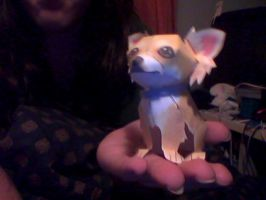 little chiwawa dog papercraft by deathmock5