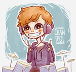 Chanyeol the excited drummer by Yui-00