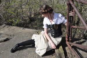 Steampunk Girl Stock V by kndrwllmsn