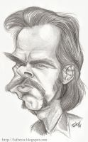 Nick Cave caricature sketch by lufreesz