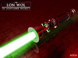 Lon Wol Lightsaber - 3D3 by valaryc