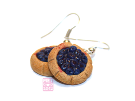 Blueberry Tartlet Earrings by Metterschlingel
