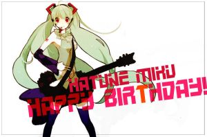 MIKU 2nd Birthday by squirnail