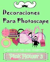 Decoraciones para Photoscape by Pink Flower 3 by PinkFlower3