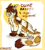 Daine ref :NEW FURSONA: by Amathaze