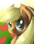 Applejack Portrait by NiegelvonWolf