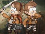ATTACK ON TITAN X GRAVITY FALLS by hzrinv