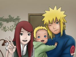 The Uzumaki Namikaze family by nelsonaof