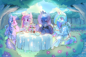Princess Tea Party by Mewball