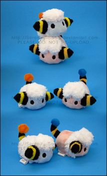 Stacking Plush: Mareep and Flaaffy by Serenity-Sama