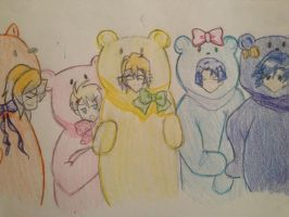 Starish In Bear Costumes by Dangolover215