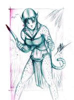 Wildcat chick sketch by Men-dont-scream