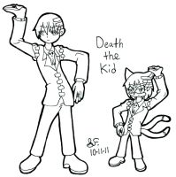 Death the Kid and Mobian by Zalehard13