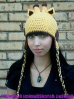 Crochet Giraffe Hat View 3 by NightsMemories