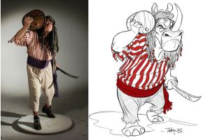 Rhino Pirate for POSE BOOK by tombancroft