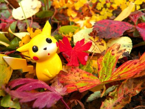 It's Fall, Pikachu! II by Bimmi1111