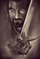 The Hobbit - Thorin Oakenshield by geekyglassesartist