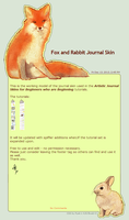 Fox and Rabbit Journal Skin by Pyek