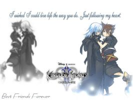 Riku and Sora Wallpaper by AdventChildrenFreak