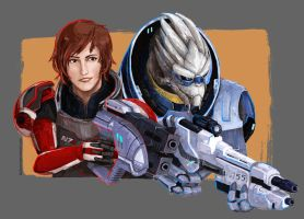 There's no Shepard without Vakarian by Layferen