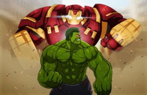 Hulk vs. Hulkbuster by Paterack