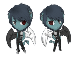 Chibi Abel and Sael by Izhin