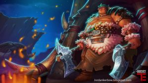 Dungeon Defenders 2 Barbarian Illustration by JordanKerbow
