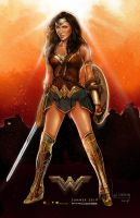 Wonder Woman movie poster. by wallacedestiny