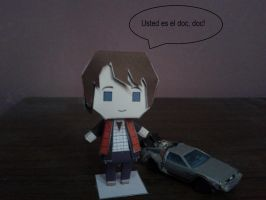 Marty Mcfly papercraft by daigospencer