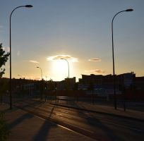 Sunset on a Deserted Town by mickyjenver