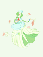 Pastry Chef Gardevoir by faundly