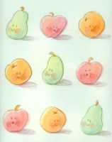 Fruit Wrapping Paper by DigitalDuckie
