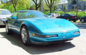 1993 Corvette 40th Anniversay - Front View by Kitteh-Pawz