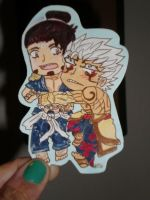 Asura and Yasha Stickerrrrrr! YEAH! by Luckyoctopus
