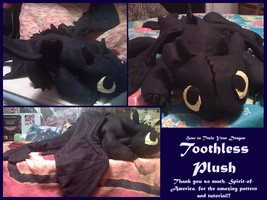 Toothless Plush by methuselah-alchemist
