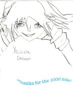 Yoruichi-Thanks for 1000 hits by Rukia1000