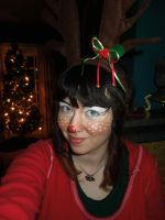 Reindeer Face Paint by BengalTiger4