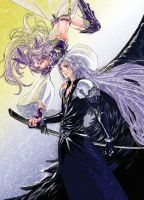 Sephiroth and Kuja by Atoru-k