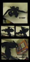 HTTYD - Toothless Plush by Hanyou-no-miko