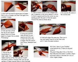 Crane Bird Origami TUTORIAL by carriephlyons